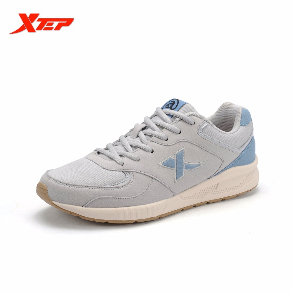 XTEP 2017 Brand Cheap Running For Men Leather Trainers Training Athletic Shoes Man Sports Sneakers Boost Roshe Run Speed Star