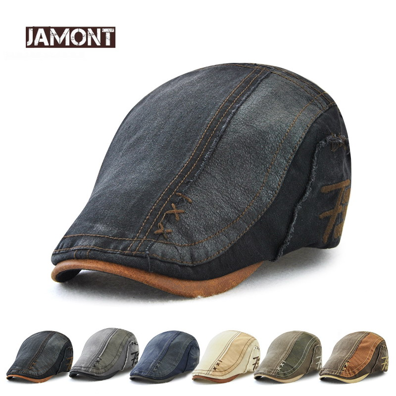 db5a66be915a [HOT DEAL] US $11.89 for JAMONT Brand Cotton Beret Hat for Men Women 2018  NEW Ivy Flat Cap Summer Boina Newsboy Style Cabbie Gatsby Beret Hat  Adjustable