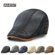 Gorra de Boina de algodón de marca JAMONT para hombres y mujeres 2018 nueva gorra  plana de hiedra de verano Boina Newsboy estilo. 68a550b7f7a