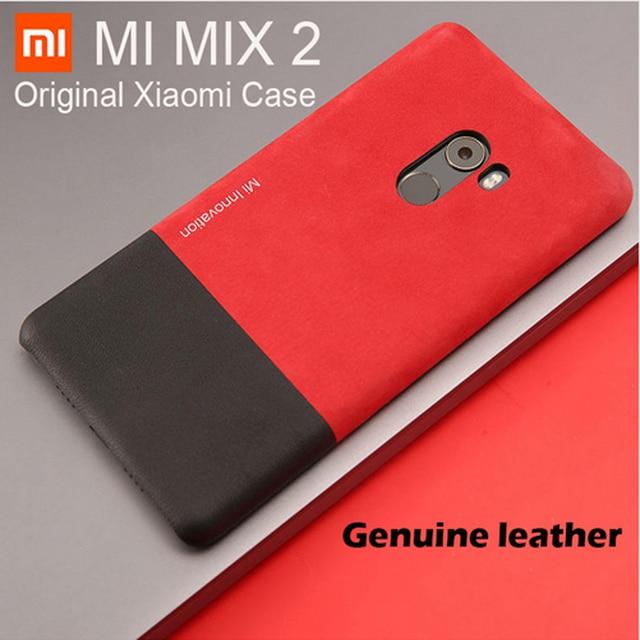 save off 2cb41 c5074 Original Xiaomi mi mix 2 case cover Genuine leather +PC mi mix2 back cover  xiaomi mi mix 2 case 5.99