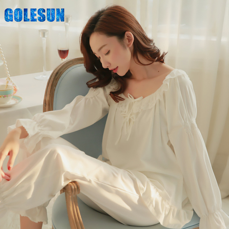Women nightdress cotton leisurewear female robe lady sleepwear pajama Women s Pajama sets