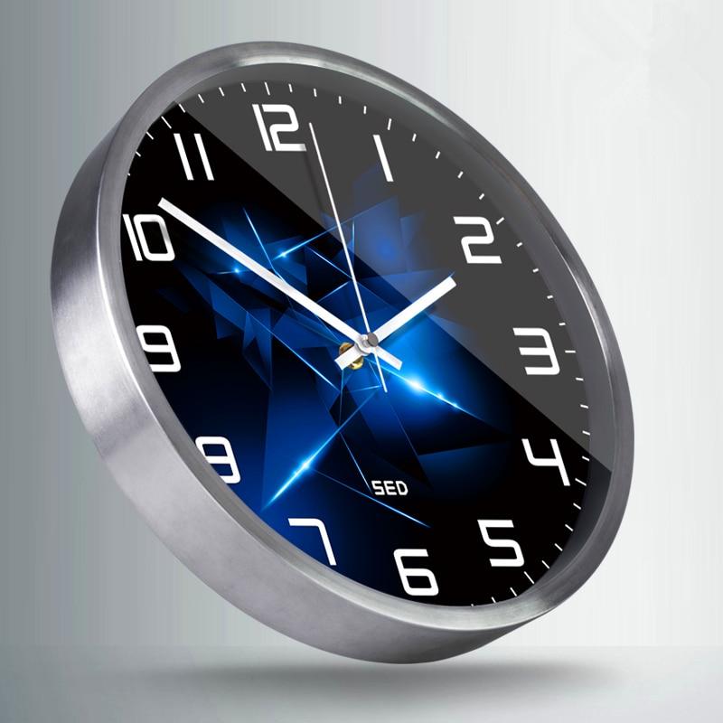 Brillant diamants horloge style nordique haut de gamme personnalisé chambre salon décoration métal horloge murale et montres-in Horloges murales from Maison & Animalerie    3