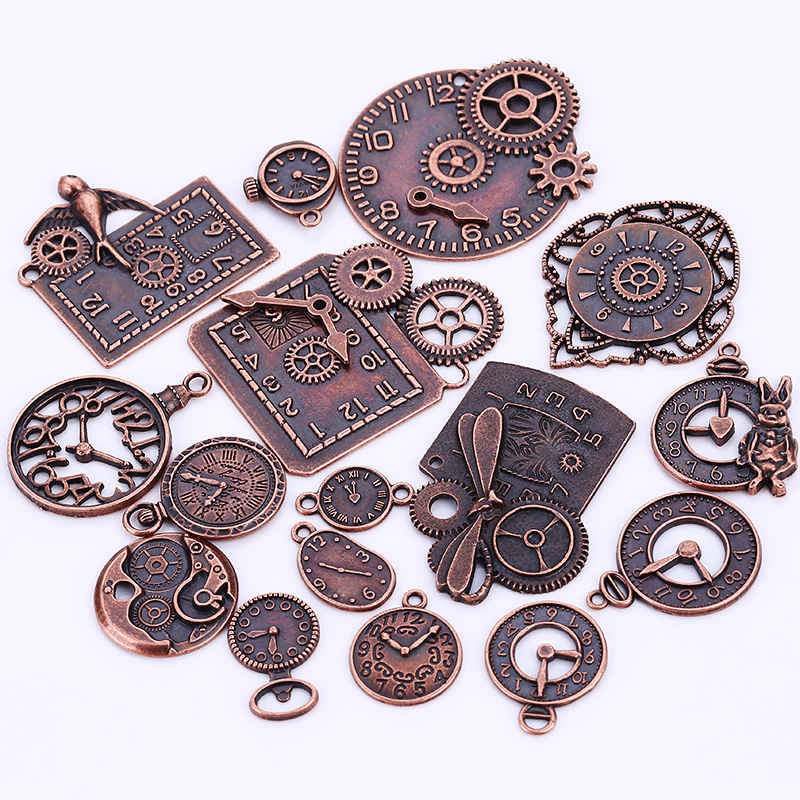 18pcs lot steampunk clock charms for jewelry making diy for What metal is best for jewelry