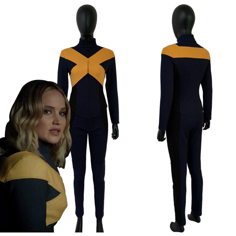 2019 x-men: foncé Phoenix Jean gris Cosplay Costume combinaison veste uniforme Costume pour femmes filles Halloween carnaval Costumes