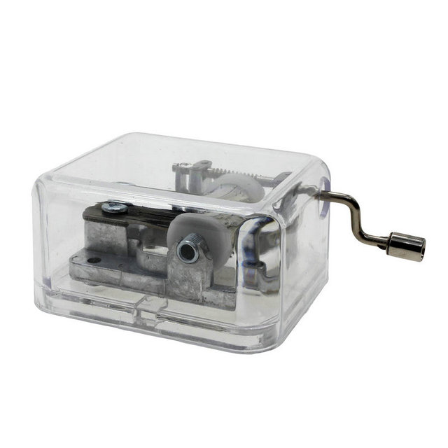 Wholesale Clear Music Box DIY Music Box Home Decor Nice Gifts For Girls  Tiny Hand Crank Hurdy Gurdy