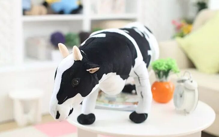 large 75cm simulation dairy cow plush toy doll throw pillow birthday gift b0417 big lovely simulation cow plush toy creative stuffed cow doll birthday gift about 75cm