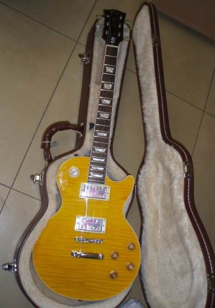 New Historic 1959 LP Reissue Aged Vintage Yellow Burst guitar G  electric guitar paul price not include the case stop the train reissue