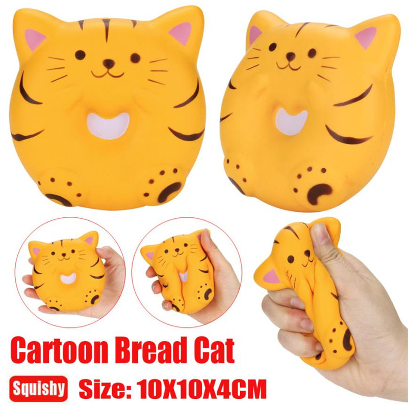 Kawaii Jumbo Unicorn Bread Cat Scented Squishy Slow Rising Cute Soft Squeeze Strap Cake Bread Kid Toy Fun Gift Collection *M30