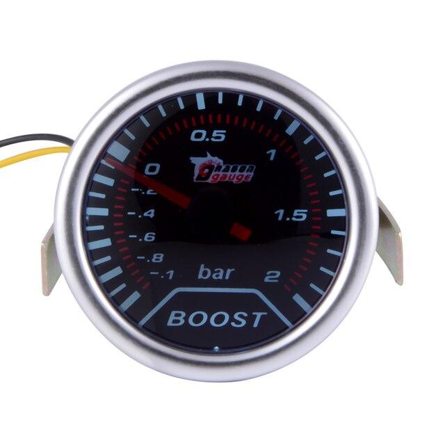 """2"""" 52mm Car Universal Pointer Meter Turbo Boost Bar Gauge LED Smoke Lens BI513"""