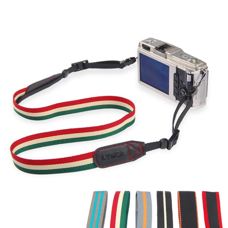 new Softest camera shoulder strap coolest stripes woven polyester with a digital camera strap for canon sony nikon fujifilm