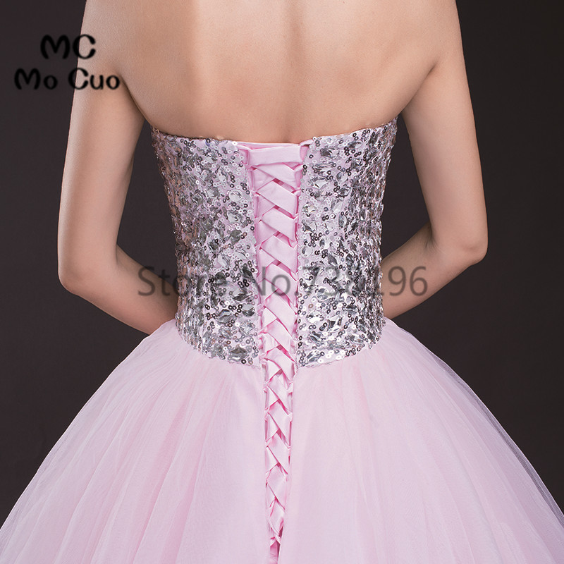 Aliexpress.com : Buy 2017 Blush Pink Ball Prom dresses Long with ...