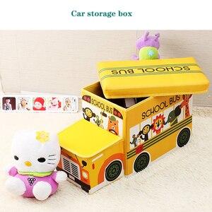 Image 3 - Креативный автомобильный ящик для хранения табурет автомобильный органайзер ящик для хранения багажник автомобильно