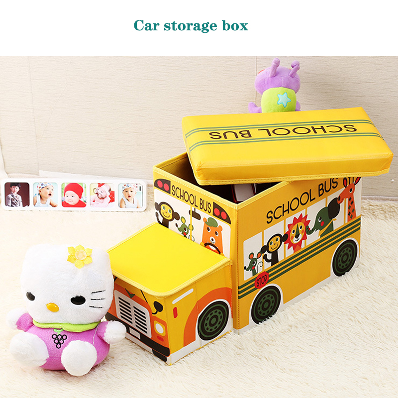 Image 3 - Creative car storage box Storage stool car organizer Trunk storage box car Seat storage bag Cartoon Multi purpose  box-in Stowing Tidying from Automobiles & Motorcycles