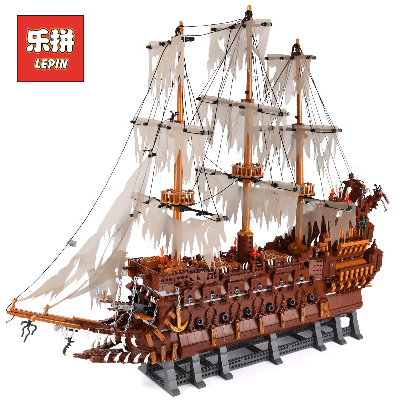 Lepin 16016 MOC Movies Series The Flying the Netherlands Set Building Blocks Bricks Educational Children Toy Model Pirate Ship