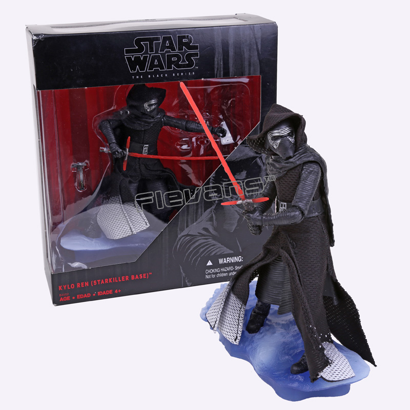 Star Wars The Black Series KYLO REN STARKILLER BASE PVC Action Figure Collection Toy 16cm new hot star wars 7 the force awakens kylo ren pvc action figure collectible model toy 16cm