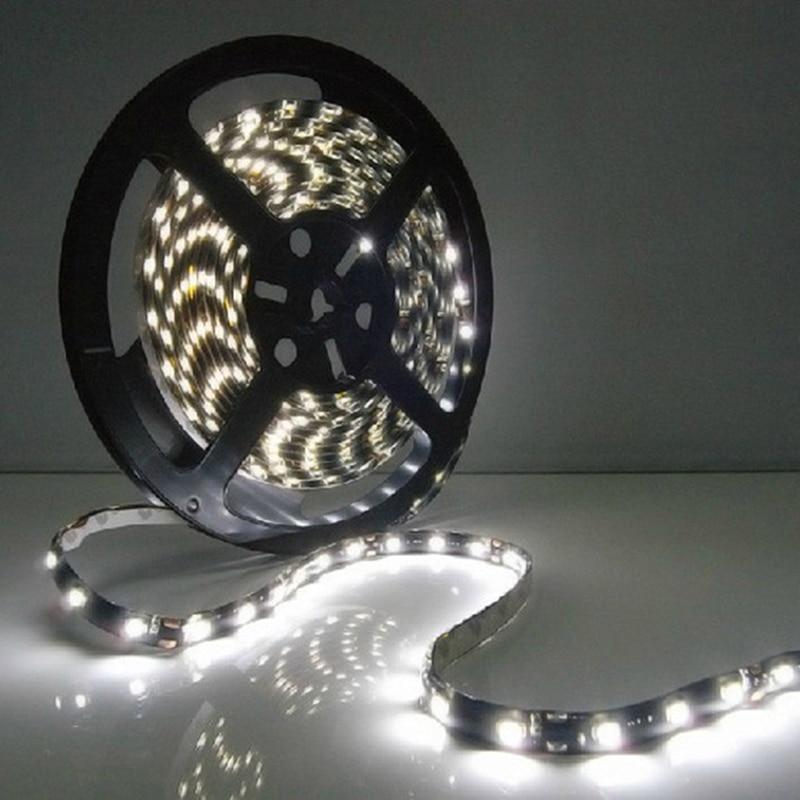 Tanbaby Black PCB LED strip lights 5M SMD 3528 Waterproof flexible led tape for car extenal decoration light DC12V 60led/M