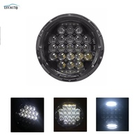 7 Inch Headlight 75W 5D Round Daymaker LED Projector Headlight For Harley Davidson Motorcycle Jeep Wrangler