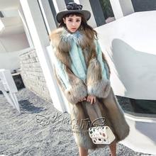 Danish classic mink  Wholesale Natural furs women's fox coats vintage fur vest Warm mink fur coat Down Jackets mink coat women