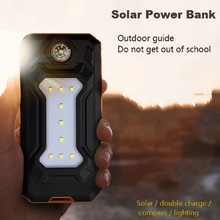 12000 мАч портативное солнечное зарядное устройство на солнечных батареях Мощность Bank на открытом воздухе аварийная внешняя батарея для мобильных телефонов, планшетов с светодиодный свет