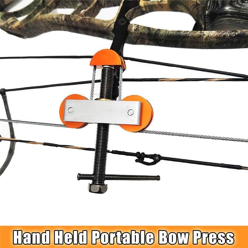 купить Hot Sale Universal Archery Protable Stainless Steel Bow Press Quad Limb L Bracket for Compound Outdoor Hunting Tools Accessories по цене 2538.45 рублей