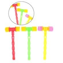 25 см Детские тренировочные Дети ручка Пластик молоток свисток детские игрушки Шум чайник