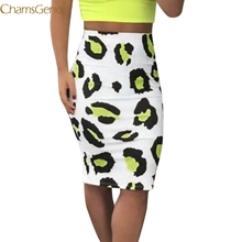 High Waist Print skirts womens skirts womens plus size pencil skirts womens Hip Slim Sexy Short Skirt summer Casual Sexy Mar cheap CHAMSGEND Polyester NONE drop shipping empire Knee-Length summer skirts womens skirts womens woolen pleated skirt set girl