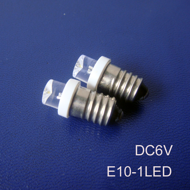 High quality 6V E10 led lights,E10 DC6.3v led bulbs,Led E10 Signal lights,LED E10 Indicator Light 6.3Vdc free shipping 50pcs/lot image