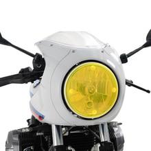 цена на Universal Acrylic Headlight Protector Cover Screen Lens for Kawasaki Yamaha Suzuki Honda Triumph BMW MOTO GUZZI HARLEY SYM