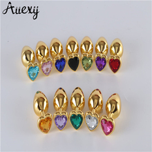 AUEXY Golden Buttplug Heart Metal Stainless Steel Butt Plugs Sextoys for Woman Men Gay Analplug Erotic Tapon Anal Jewel Produce