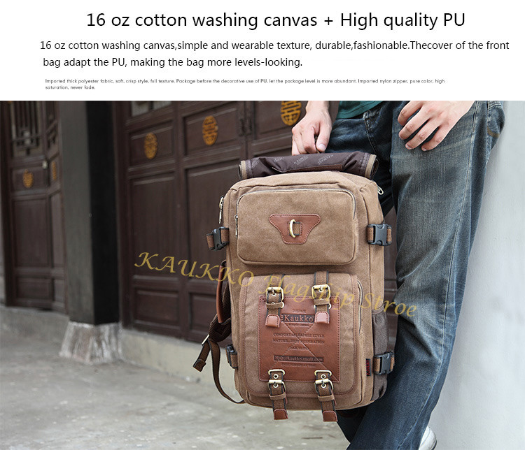 Marke Stilvolle Reise New vintage rucksack canvas backpack leisure travel schoolbag unisex laptop backpacks men backpack male 13