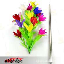Vanishing Cane To Bouquet Metal Professional Flower King Magic Props Stage Up Magia Fuuny Tricks Magicians Stick Toys