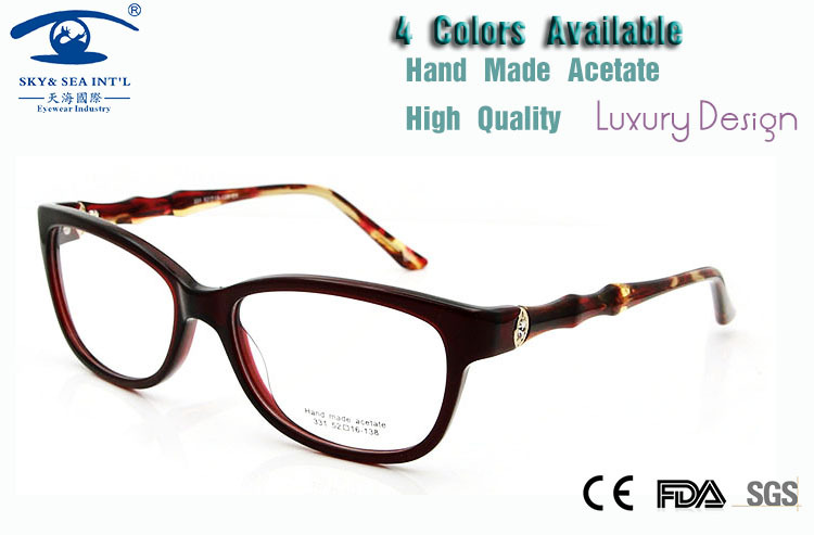 1e3f442eec97 New 2015 High Quality Diamond Rhinestone Eyeglass Frames Female Handmade  Eye Glasses Frames for Women Luxury Eyeglass Rx-in Eyewear Frames from  Women s ...
