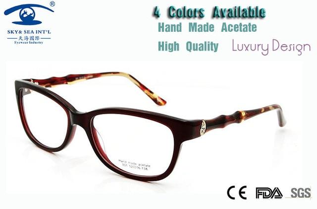 New 2015 High Quality  Diamond Rhinestone Eyeglass Frames Female Handmade Eye Glasses Frames for Women Luxury Eyeglass Rx