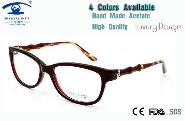 Nova 2015 de Alta Qualidade do Diamante Strass Armações de óculos Feminino Artesanal Armações de Óculos de Olho para As Mulheres De Óculos De Luxo Rx