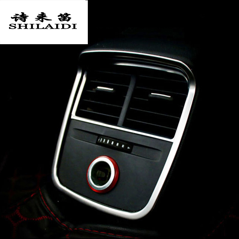 Car Styling Rear Air Conditioning Vent Frame Outlet Internal Decoration Cover Sticker Trim For Audi A3 Interior Auto Accessories