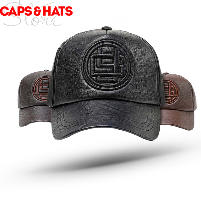 2018 Jamont New Top Quality PU Baseball Cap Dad Hats For Men Winter Warm  Leather Snapback Hat fe55bc2ad