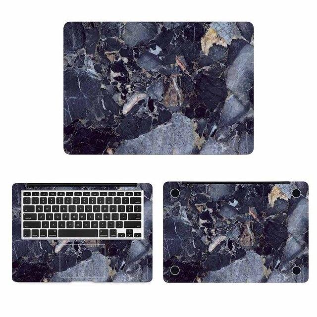 Mármore azul 13 Grão Capa Full Body Adesivo de Pele para Macbook Pro Air Retina 11 12 15 polegada Mac Mi superfície Livro Decalque Da Pele Do Portátil