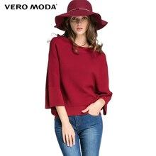 Vero Moda бренд осень 2017 г. новая женская мода повседневная европейский и американский Стиль вязаный свитер Пуловеры Топы 315424002