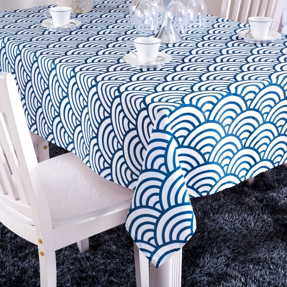 Printed Blue Striped Tablecloth Party Banquet Table Cloths Rectanglar Table  Covers For Weddings Europe Style Free Shipping In Tablecloths From Home U0026  Garden ...