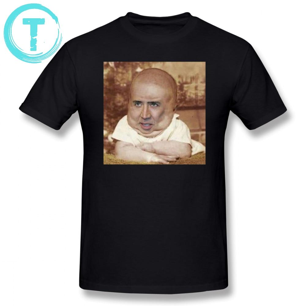e6a6e3121 Nicolas Cage T Shirt Nicolas Cageu Baby T-Shirt Fashion Graphic Tee Shirt  Male Fun Short Sleeves Oversized Tshirt