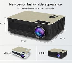 Image 2 - Poner saund m5 led projetor sistema de cinema em casa 3d proyector alto falantes de alta fidelidade hd completo selecionável android m5 wifi pk led96 projetor