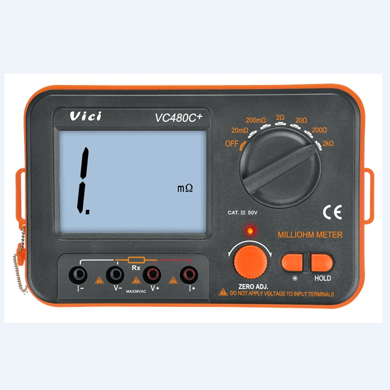 Tools : 3 1 2 Digital Milli-ohm Meter VC480C  LCD Backlit 4 Wire Test Low Resistance Multimeter 6 Ranges Accuracy Measurer VICI Brand
