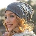 Moda Otoño Invierno Mujeres Bufanda Sombrero Letras de Hip-Hop Mujeres Gorros Sombrero Del Algodón Tapa de Cobertura Hombres Envío Gratis M51