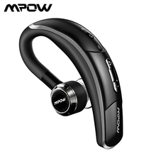 Mpow BH028 Bluetooth Earphone Single Wireless Headphone With 6 Hour Playing Time Handsfree Calling For Car