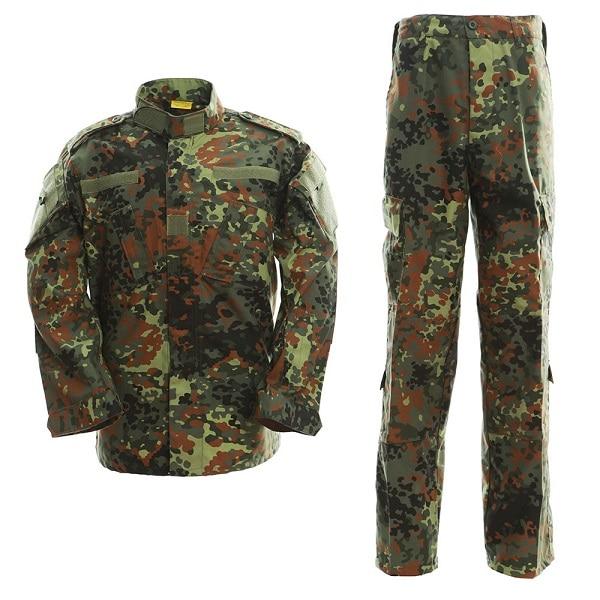 Hunting Military Special Force Tactical Combat BDU Uniform Shirt Pants Flecktarn