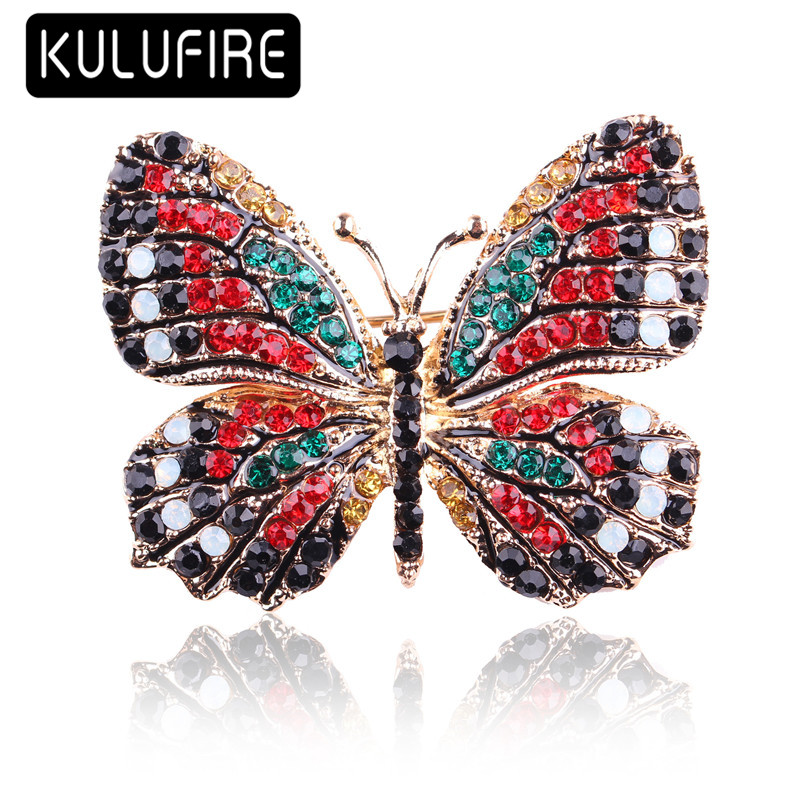 KULUFIRE vintage butterfly pins Brooches broche femme juego de tronos broschen broches animales mujer buho homem aranha