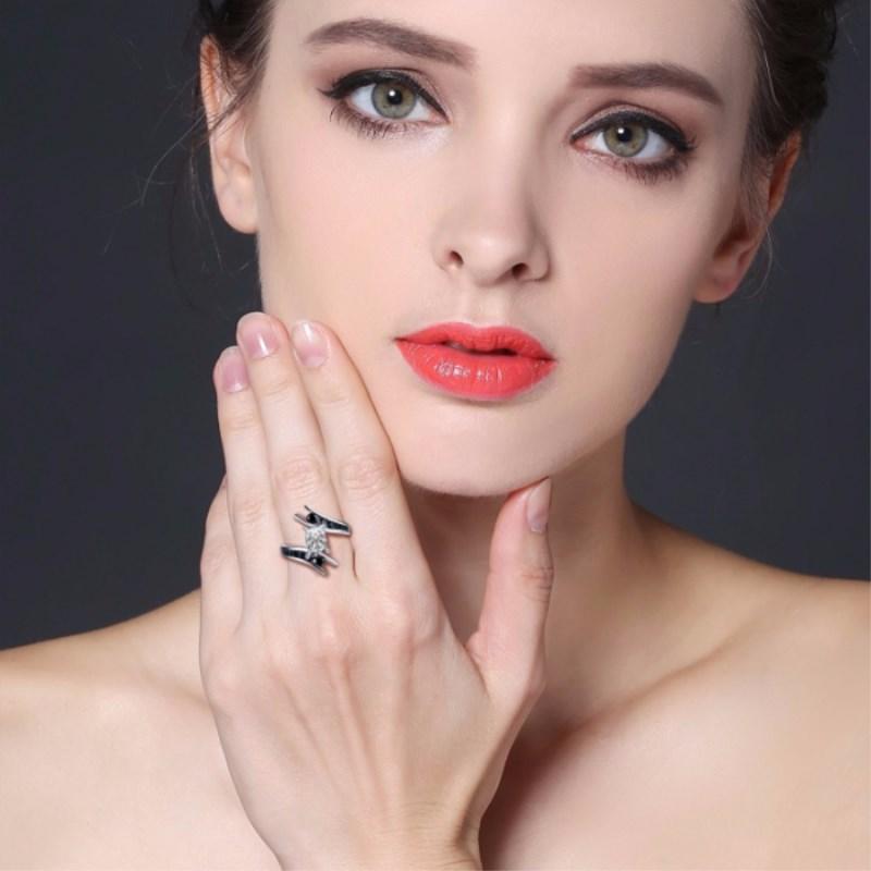 CZARNA AWN Fine Jewelry 5.1 Gram 100% Oryginalna 925 Sterling Silver - Wykwintna biżuteria - Zdjęcie 2