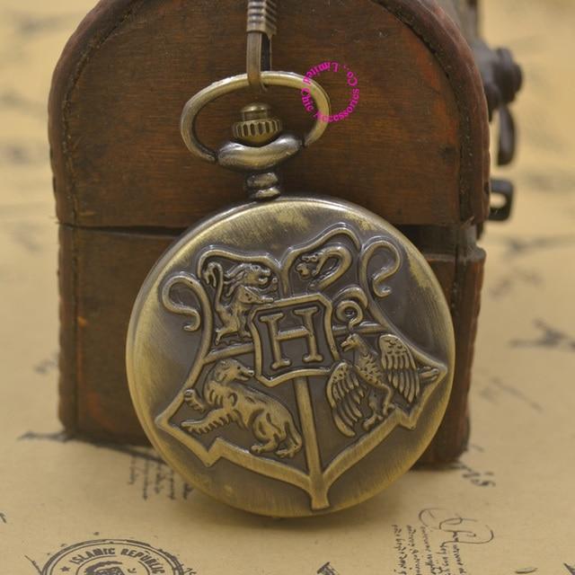 Hogwarts Scuola Distintivo Harry Potter Orologio Da Tasca Al Quarzo H Fob Guarda
