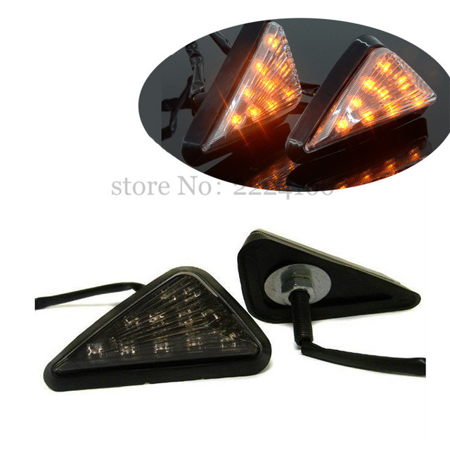 Motorcycle LED Turn Signals Blinker Light for Honda CBR F4i 600RR 929RR 954 1000 RR Smoke Motorbike flashers lights one pair