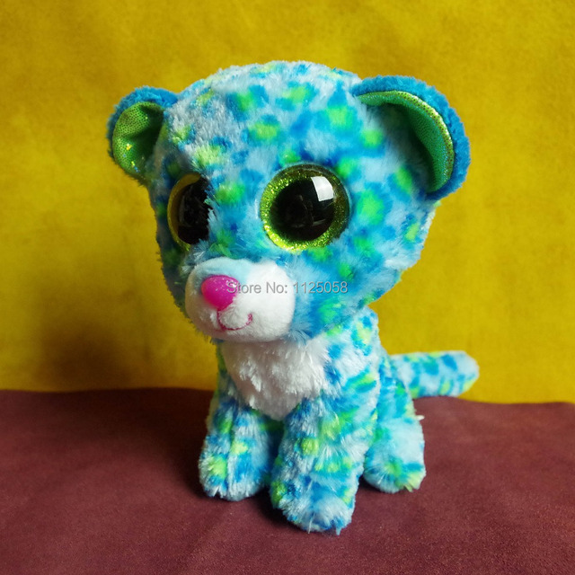 Retail 15cm Ty Beanie Boos large round eyes little Leopard plush stuffed  animal toy for child birthday gifts baby toys 17f4f5296f7